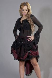 Burgundy Burlesque Bustle Suzanna Skirt